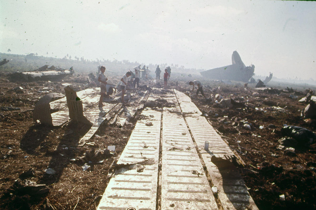 C5 Crashes In Vietnam During Operation Babylift